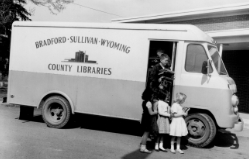 bradford county old bookmobile historical side